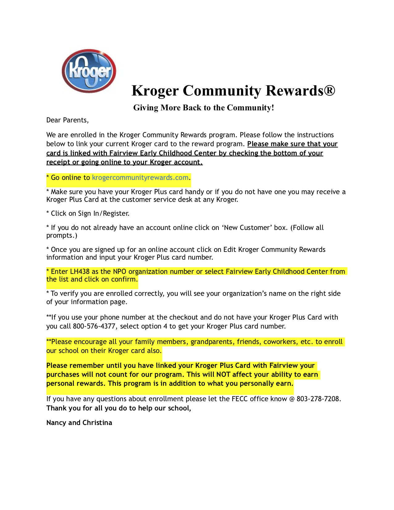 Kroger Community Rewards Parent Letter.png