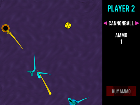 Cannon vs Cannon - by Khaled Abu-Ghazaleh and Nathan WilliamsCannon vs Cannon is a strategic turn-based physics game in which two players compete as bouncy, circular tanks equipped with deadly cannons. Cannon vs. Cannon was awarded 3rd place at GameFest 2016, representing the Quinnipiac Game Design and Development program.