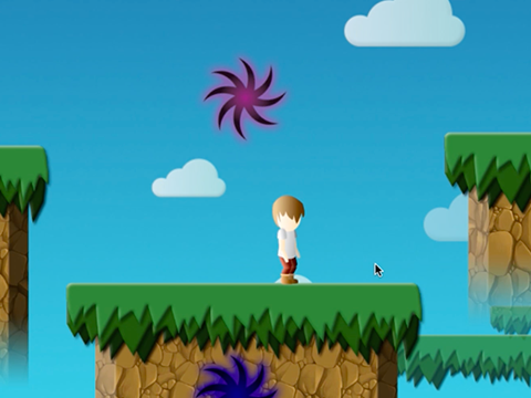 Parallel - by Jacob Frommer and Brian EisenbergParallel is a side-scrolling puzzle game with a time manipulation mechanic. The player must use portals to travel forward and backwards in time to complete puzzles. In one puzzle, the player must take a sprout from the present, plant it in the past, and return to climb a fully-grown tree.