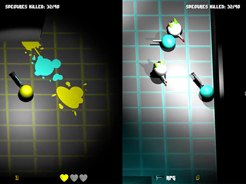 Spectre - by Connor Dean, Nevo Mantel, and Colin WindersA cooperative 3D dual-stick horde game with challenging gameplay and a minimalist aesthetic. It features splitscreen gameplay, multiple pick-ups and dramatic lighting.