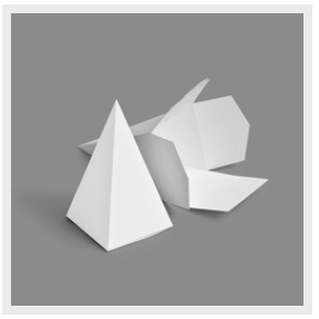 """Pyramid (2.578x2.578x4.75"""")"""