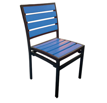 Chair Blue  Code PWKCB W 470 x D 500 x H 830mm