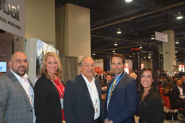 L-R:  France Media's Ryan Nixon, Kristi Procopio, Jerry France ,  Simon Hartzell  with  NAI Global  and France Media's  Nellie Day , shortly after Nellie interviewed Simon for a video clip on retail trends.