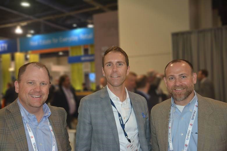 L-R:  Kurt Brost ,  Tony Colvin , Mid-America Real Estate Group (Milwaukee, WI office) and  Gregg Brown