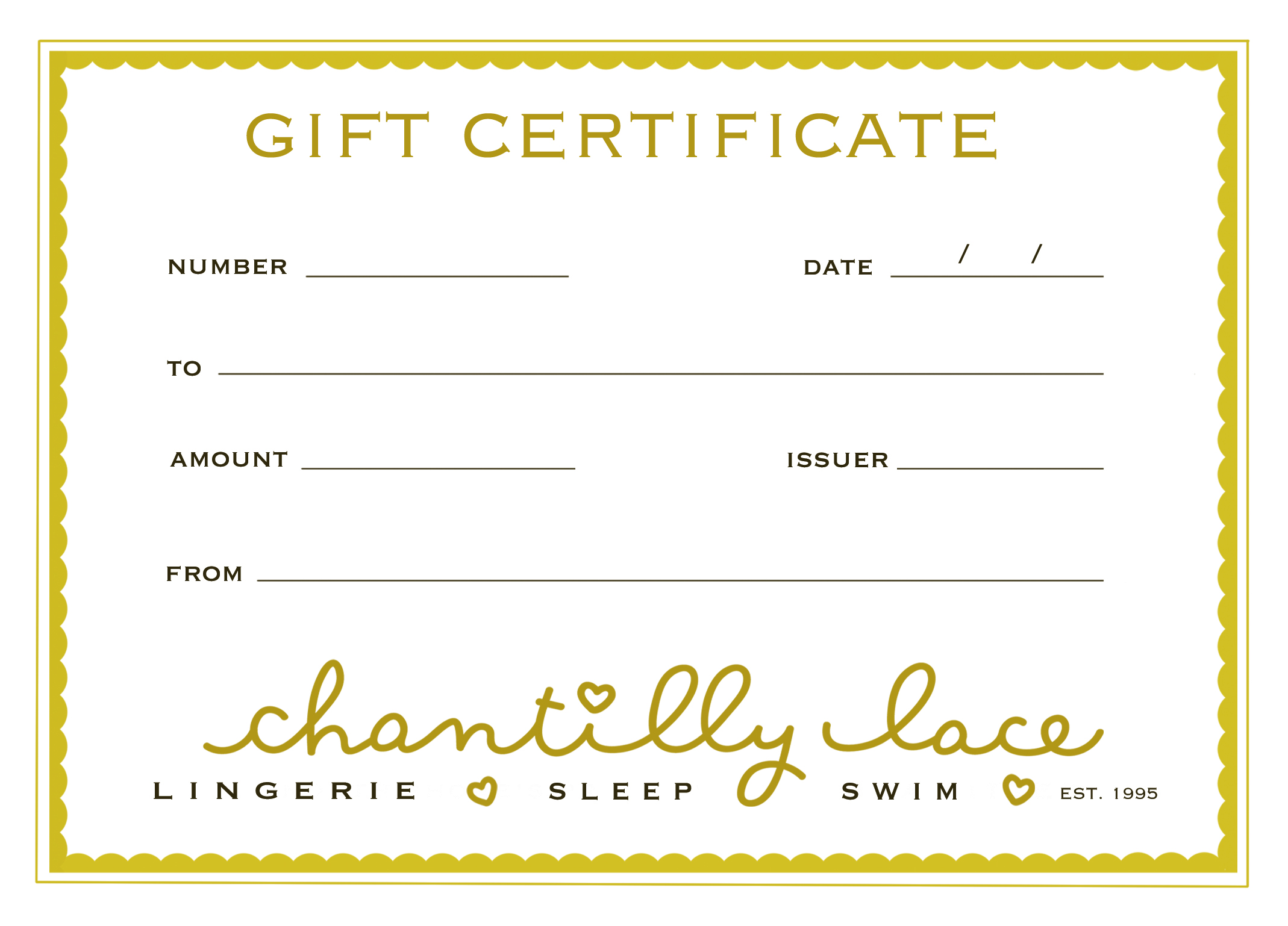 We have gift certificates. What amount should you do? We can help you with that.