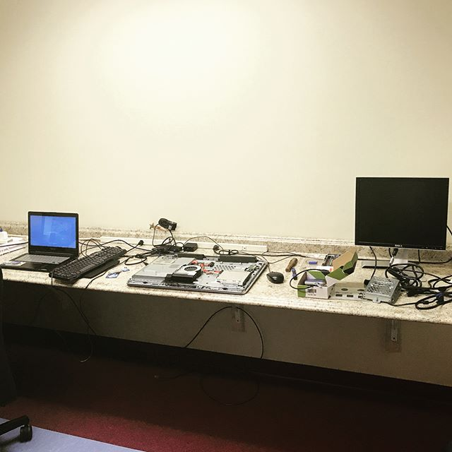 Virus removal and an operating system reinstall. Bench is full his morning! Mention this post and get 10% off your repair. www.njcomputerrepair.com 732-477-4005 #virusremoval  #computerrepair