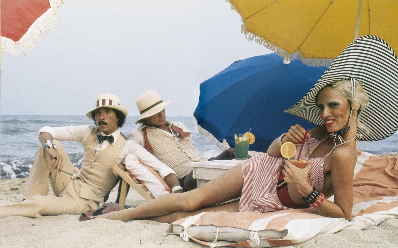 Antonio Lopez, Corey Tippin and Donna Jordan, Saint-Tropez, 1970. Photograph by Juan Ramos. © Copyright The Estate of Antonio Lopez and Juan Ramos, 2012.