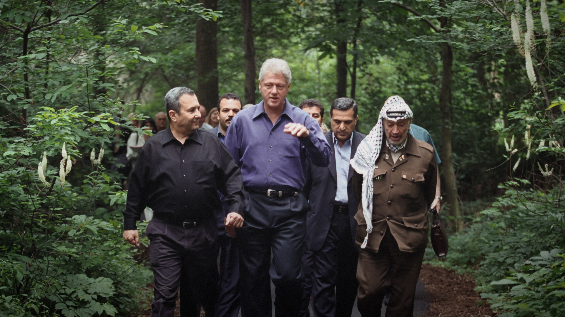_A scene from THE HUMAN FACTOR (L-R) Ehud Barak, Bill Clinton and Yasser Arafat at Camp David in 2000  .jpg