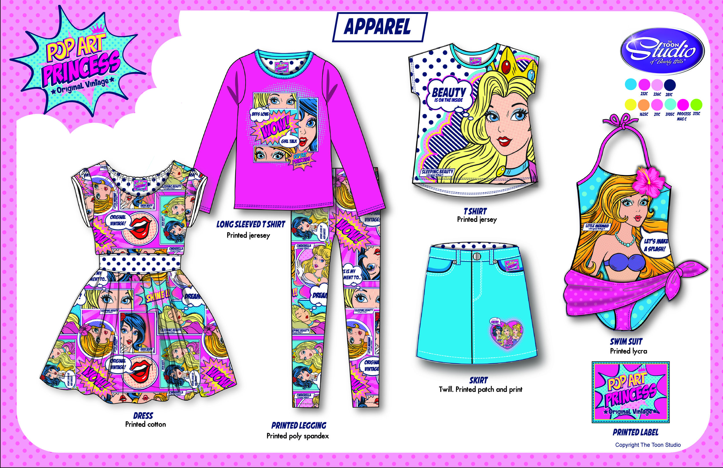 Copy of Copy of Pop Art Princess Style guide -Apparel