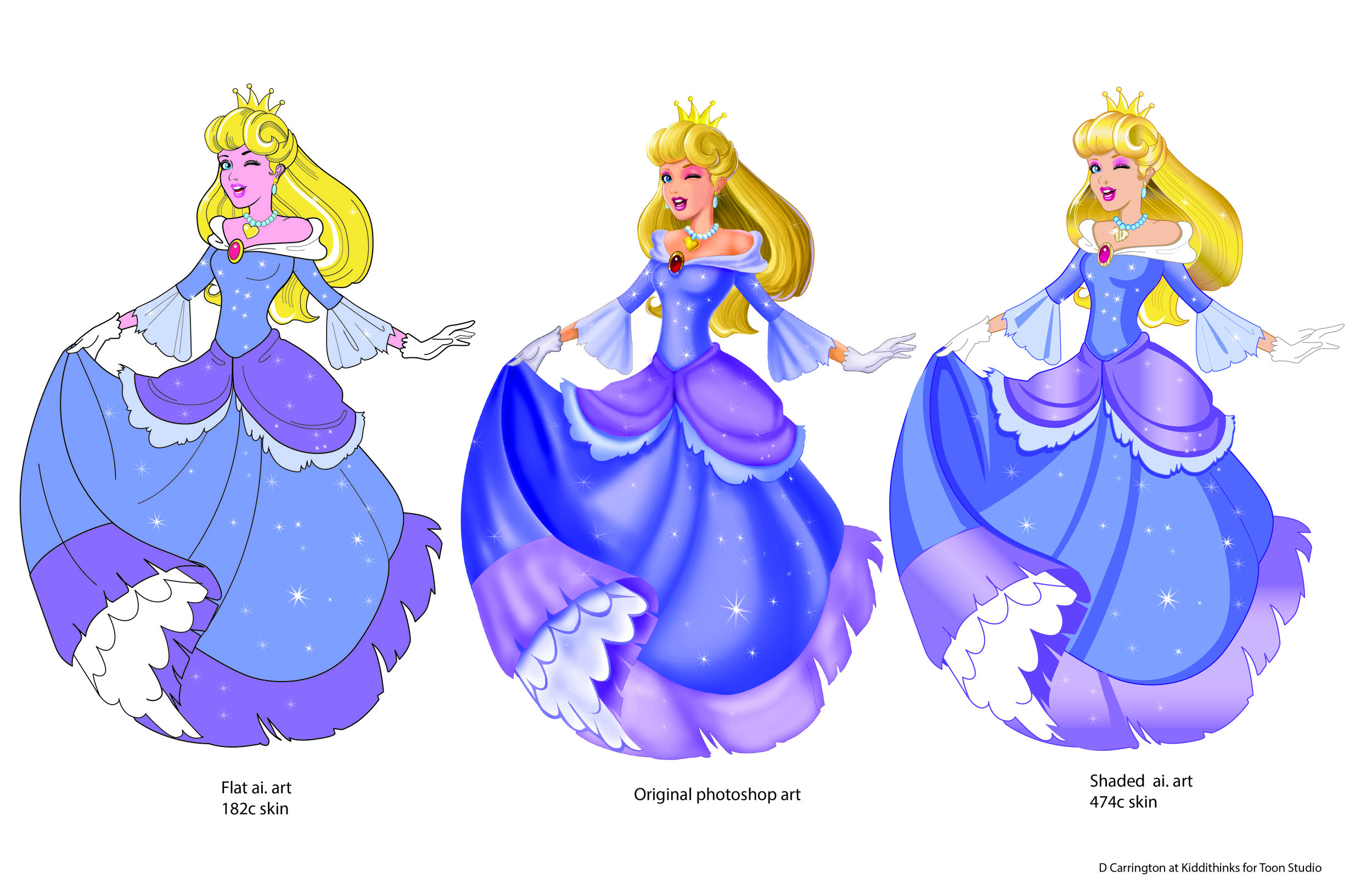 Copy of Copy of Pop Art Princess Style guide-Character Art