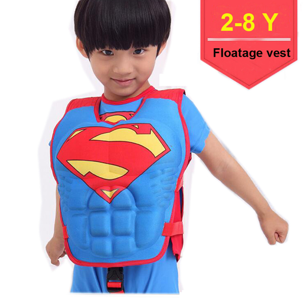 Superman swim vest.