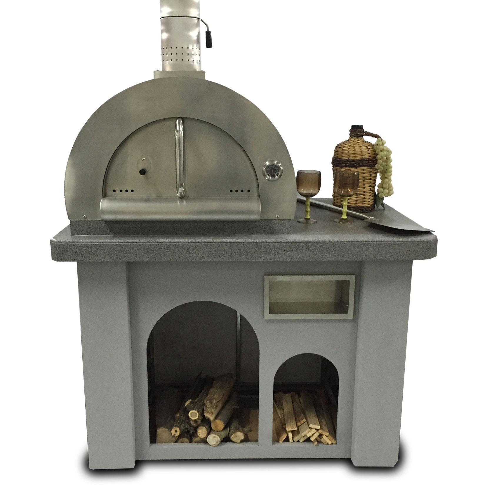 Biscayne Series Stucco/Tile Outdoor Pizza Oven    MSRP Pricing: $4200