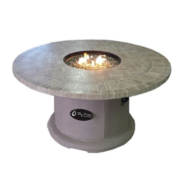 """Travertine Series (Natural Stone) Fire Table  Available in 42"""" and 48"""" sizes."""