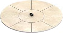 Matching Stone Burner Cover  Available in Mosaic, Travertine, and Slate Series.   Pricing: $178