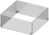 """24"""" Glass Wind Shield    Protect your fire pits in against all types of weather   Pricing: $223"""