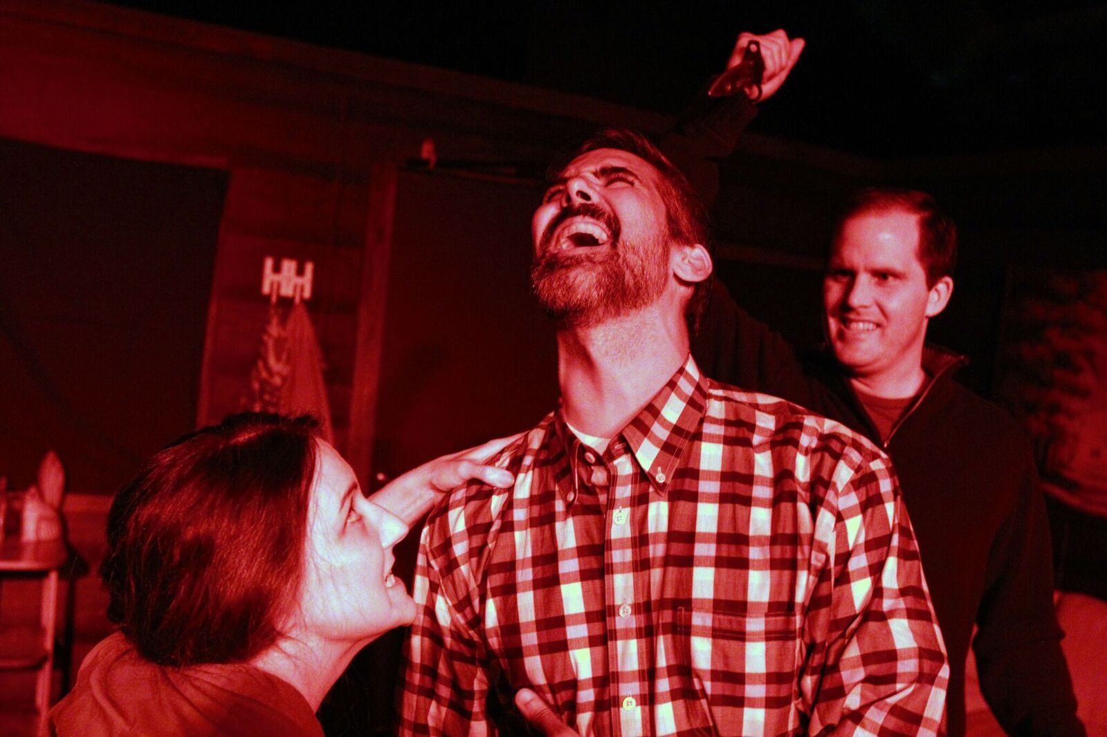 Beth Curley, Steven Cardinal and Daniel Breuer in the world premiere of Theroun Patterson's 2015 winning play    The Cannibals.