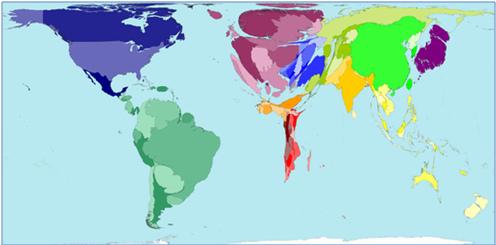 Mapa 2: industria hidroeléctrica en el mundo