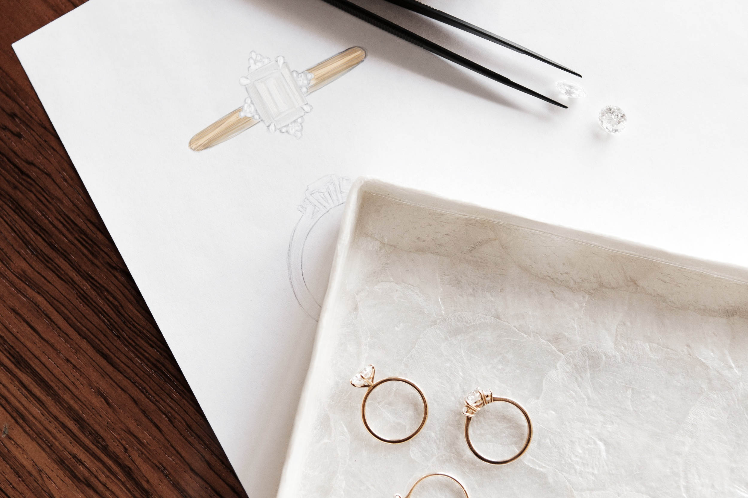 step four - You ring goes into custom fabrication with our exclusive jeweler in New York City