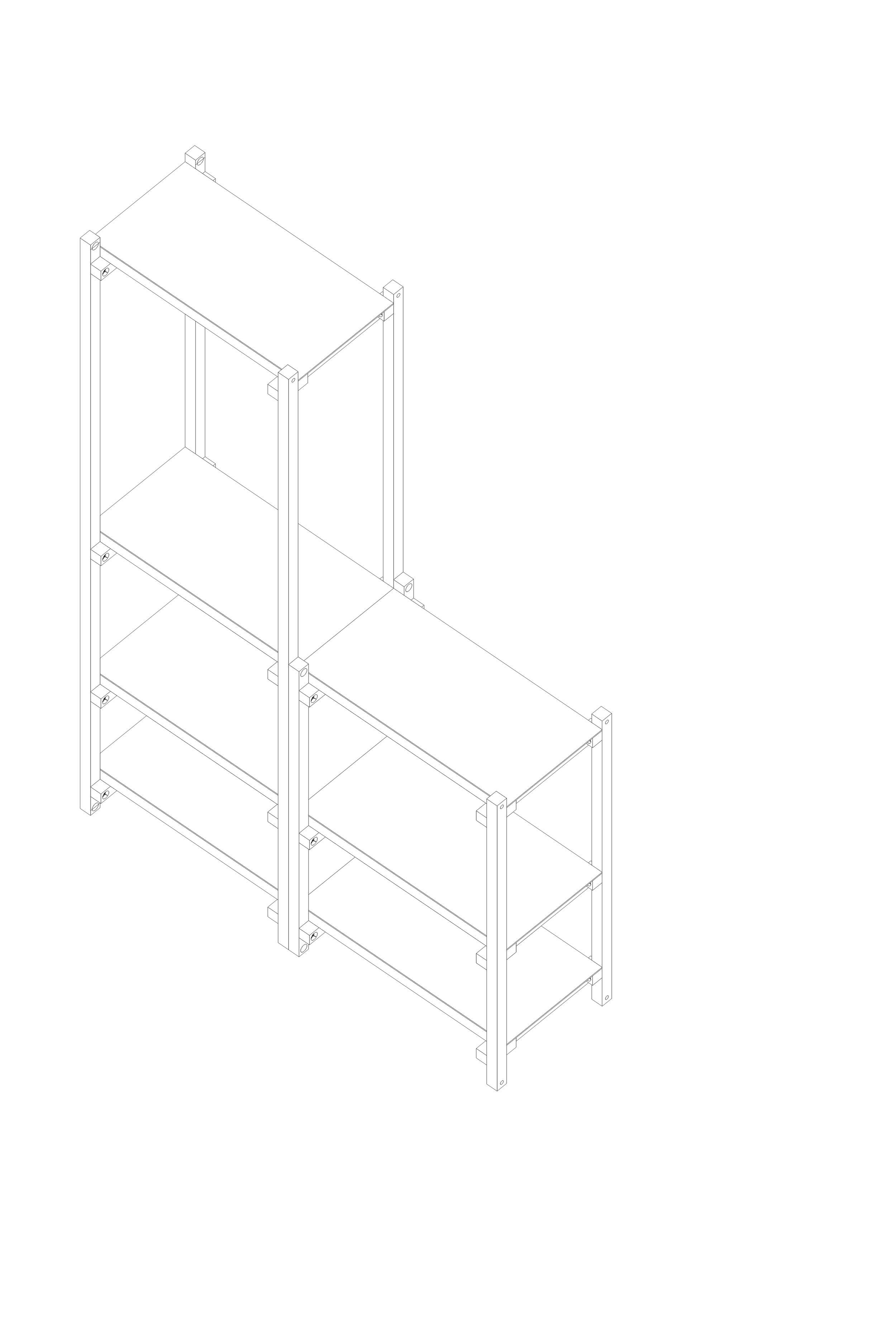 EM450 | EM900 | EM1800   Estructura de madera maciza de guatambú. Sistema de ensamble.  Dimensiones: - 450 x 600 x 350 - 900 x 600 x 350 - 1800 x 600 x 350  Material de tabla: chapa3mm