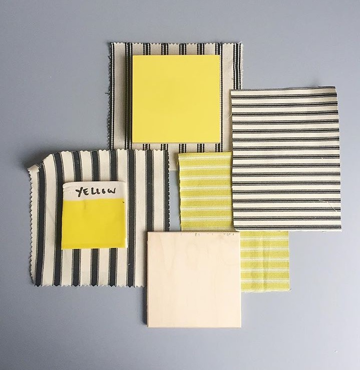 plywood formica yellow ticking