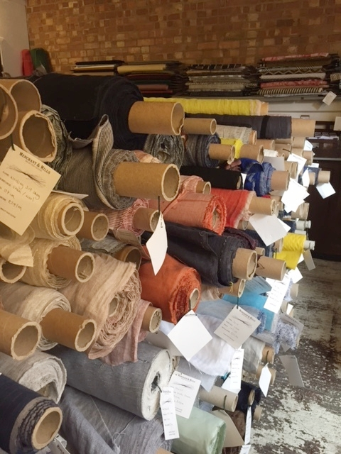 fabric rolls at Merchant & Mills.JPG