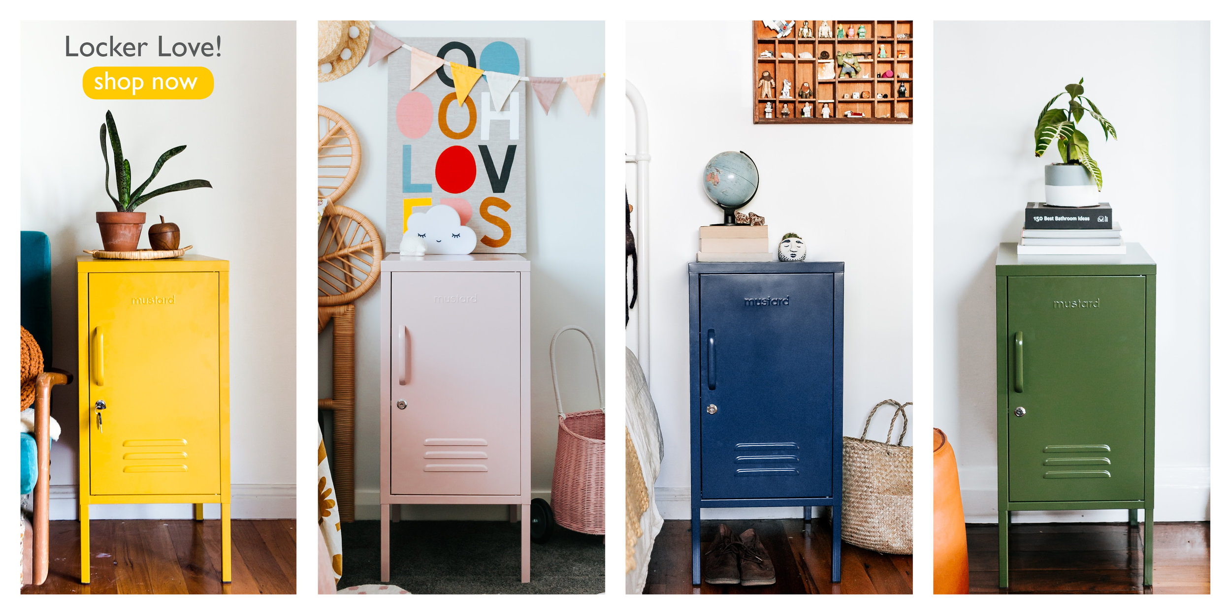 colourful metal lockers