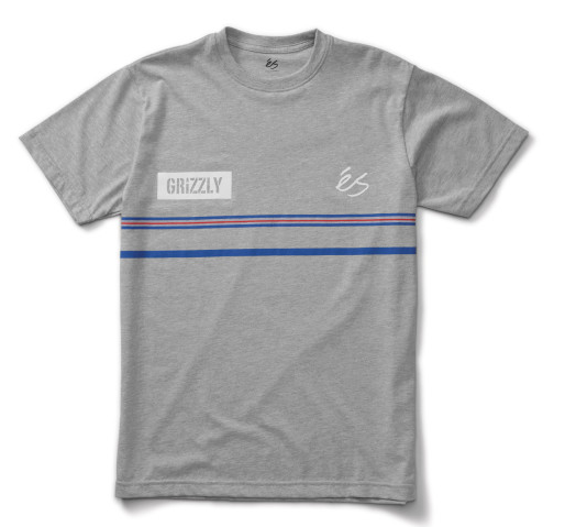 Es x Grizzly Game Tee Grey/Heather -