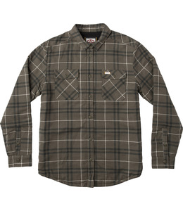 ANDREW REYNOLDS PLAID FLANNEL OLIVE