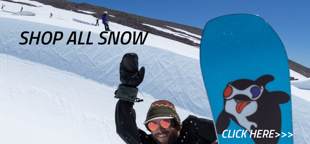 SHOP ALL THE SNOWBOARD GEAR YOU NEED TO GET YOU ON THE HILL WITH STYLE. WE ALSO DO FULL TUNES WAXES AND REPAIRS ON SNOWBOARDS. CALL US TO GET MORE INFO ON OUR WAXES AND TUNES 805-347-3323