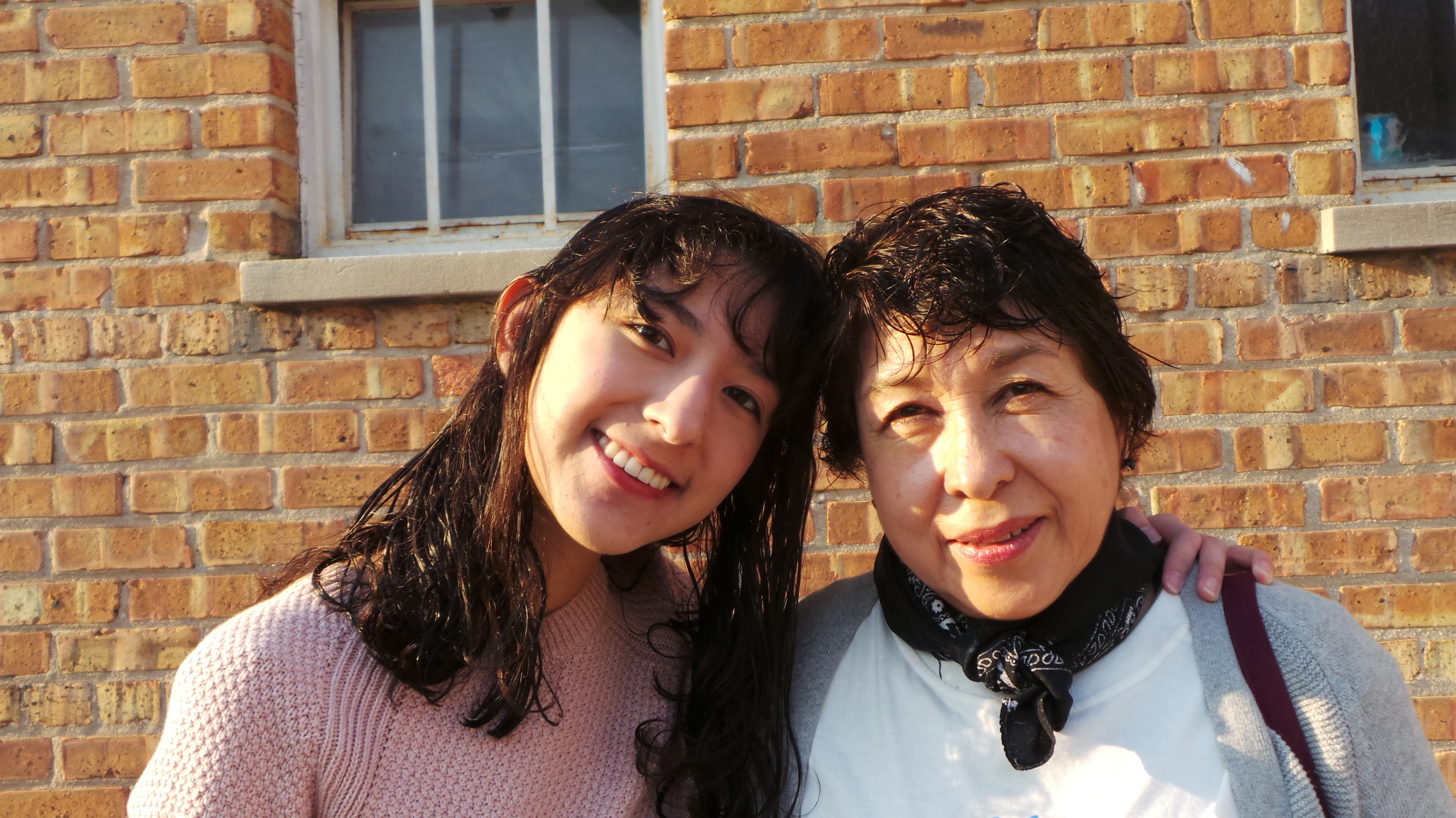 Maria Esther Sanchez and her mother, Maria Esther Bolaños, a member of Latino Union
