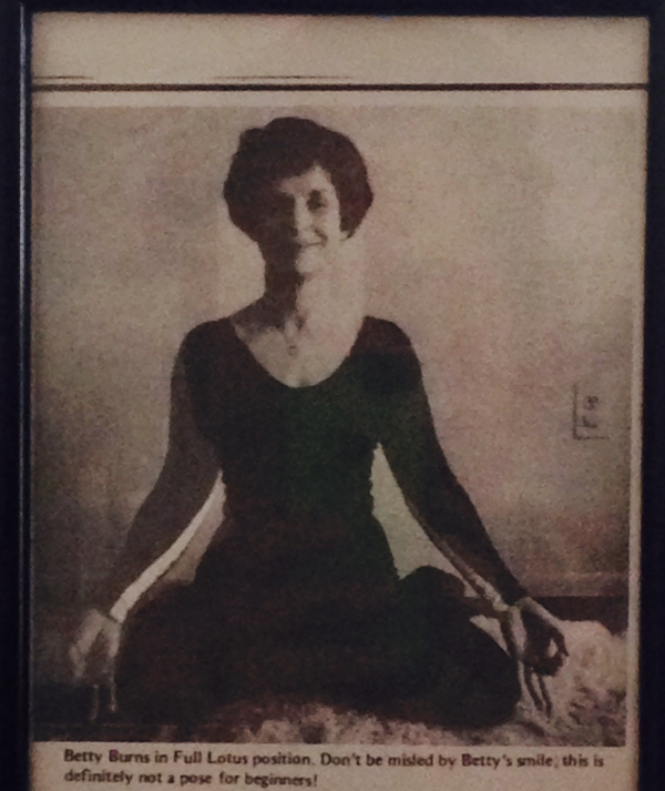 My grandmother showing off her flexibility before yoga was a thing.