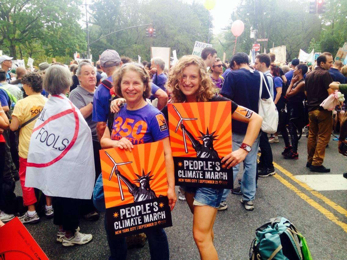 2014 Climate March with Mum (my inspiration)