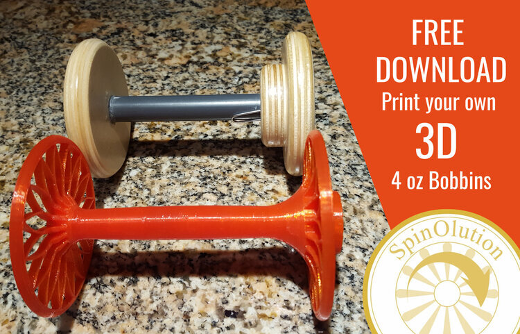 Spinolution 3D printed bobbins