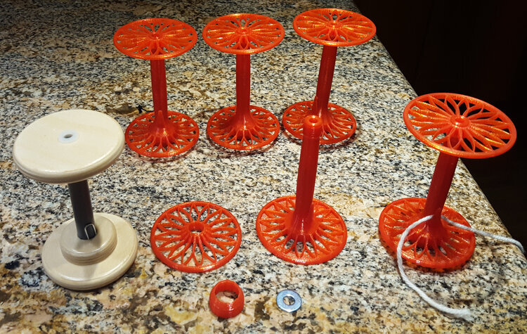Print your own 3d bobbins for a spinning wheel