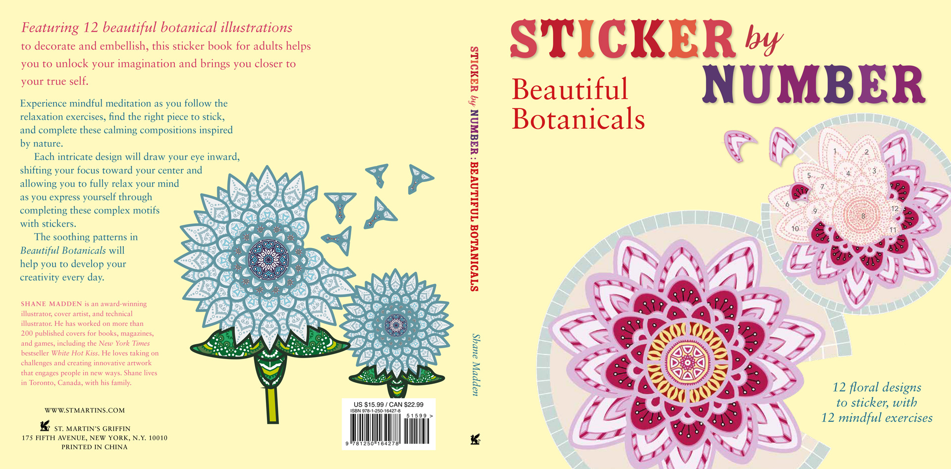 Sticker By Number Beautiful Botanicals Shane Madden