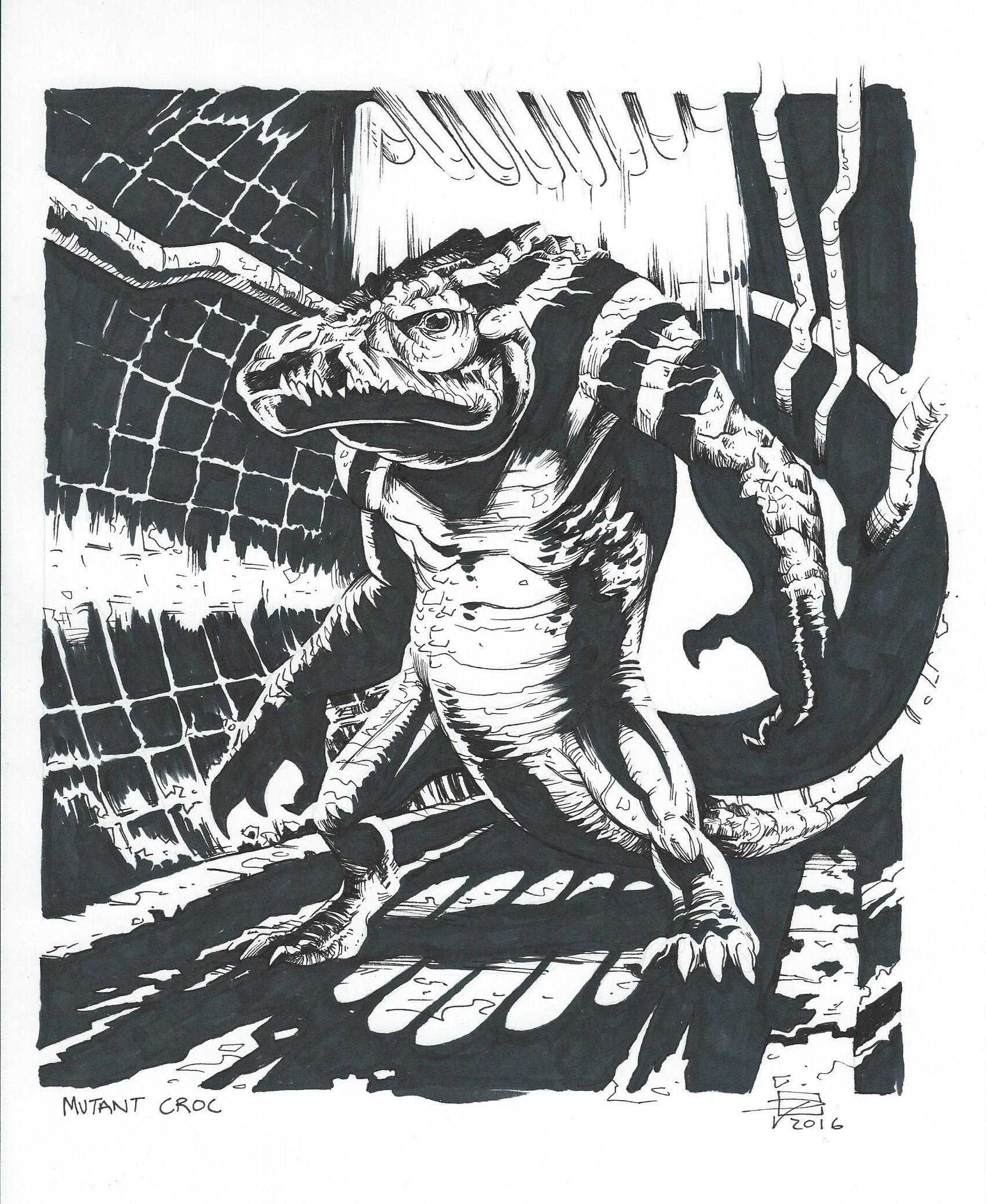 Mutant Croc - Inktober 2016