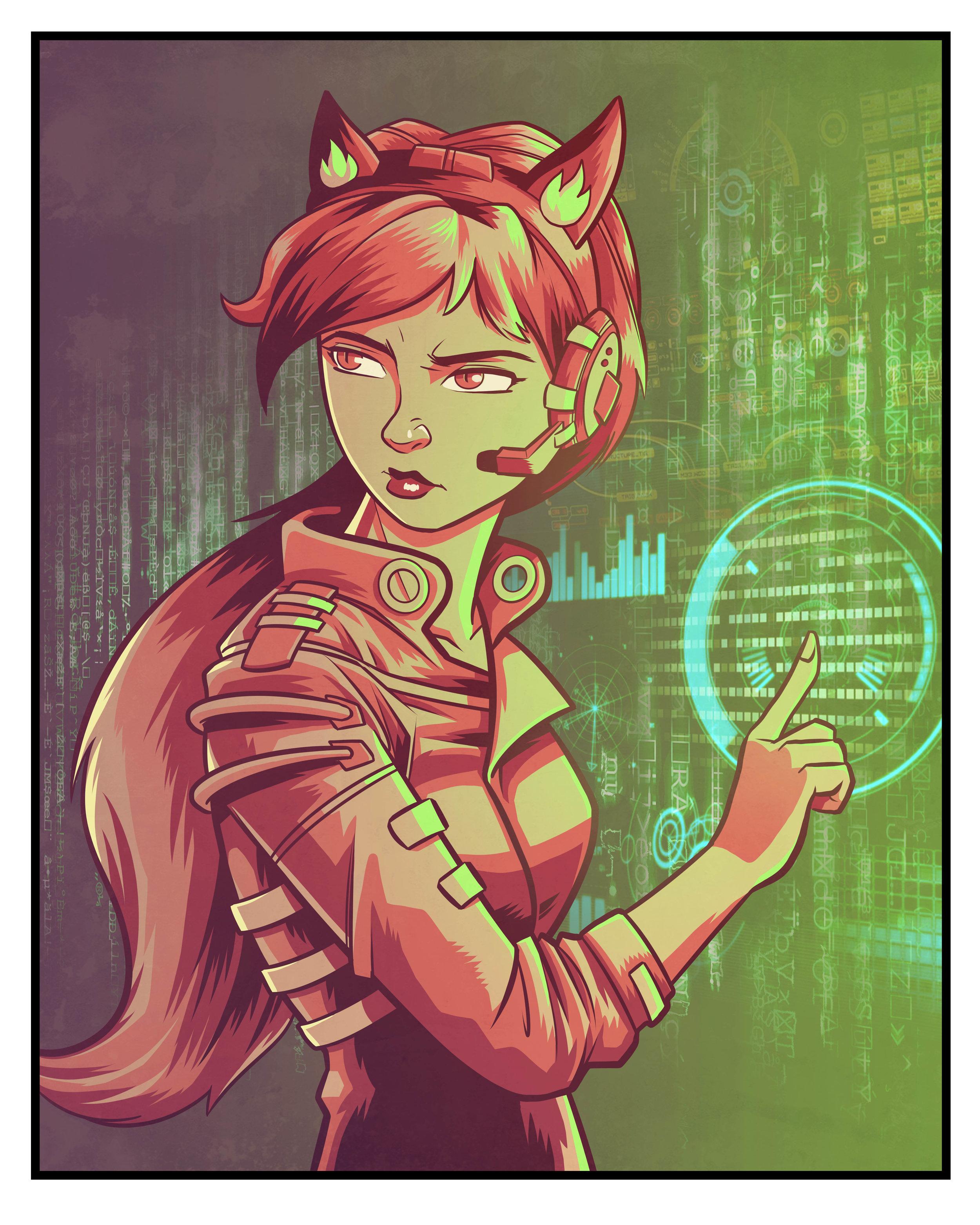 Cyberpunk Foxgirl