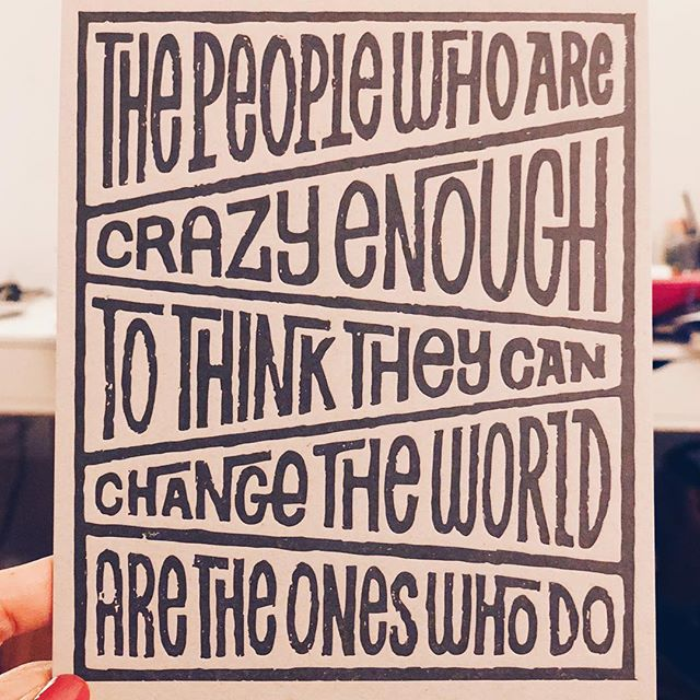Be crazy.
