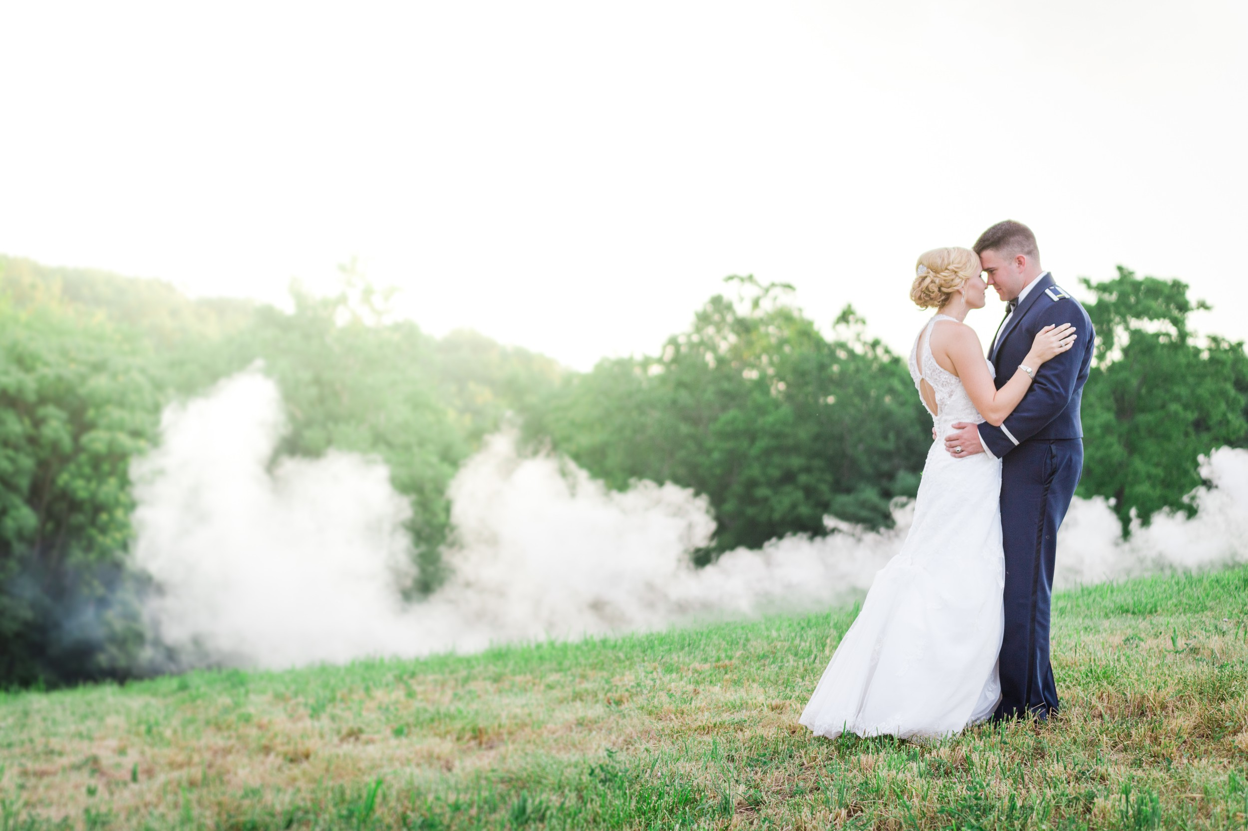 Both the bride and groom are serving in the Air Force and had their Farm Wedding in the heart of Maryland.