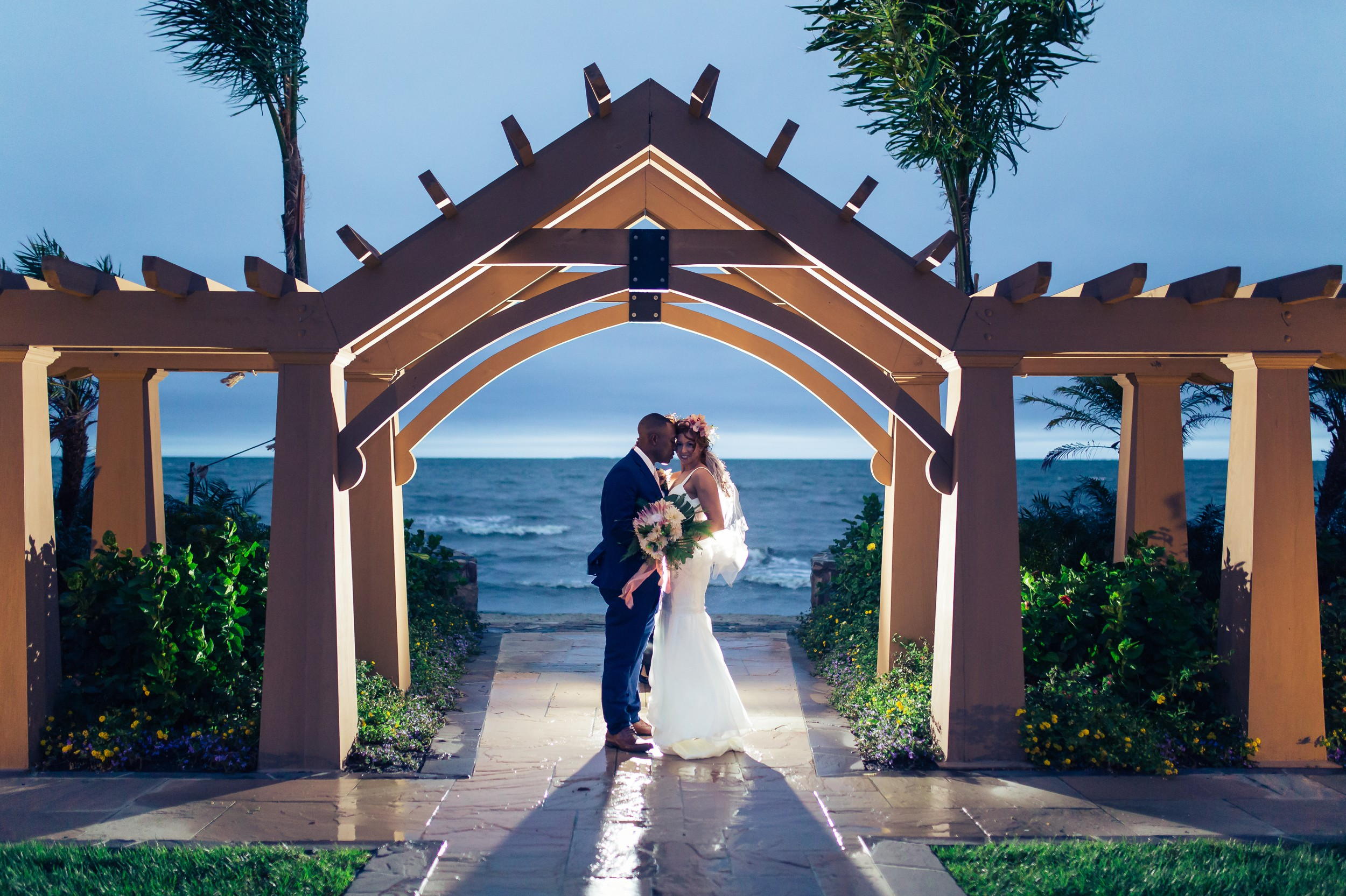 This Herrington on the Bay wedding in Eastern Maryland had a storm on their wedding day but it lead to the most Amazing couples portraits.