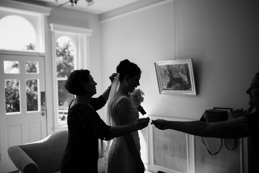 Mother of the Bride Helping Get Ready