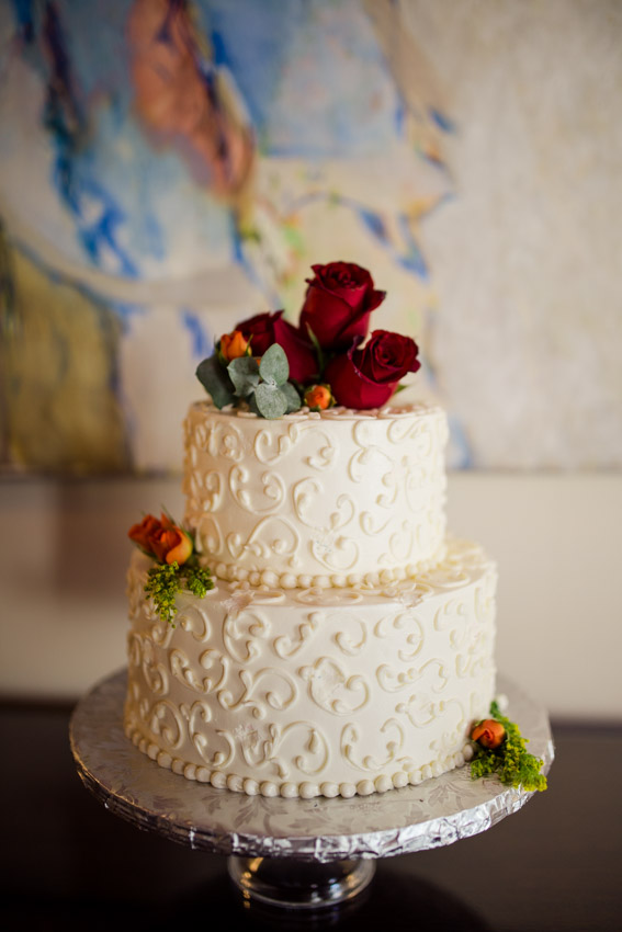 Rose Pettal Wedding Cake