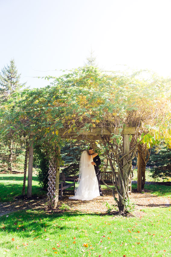 Fall Sunset Wedding Gazebo