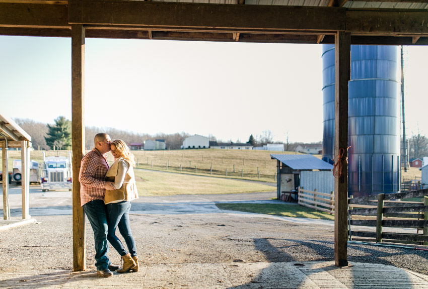 Romantic Farm Engagement
