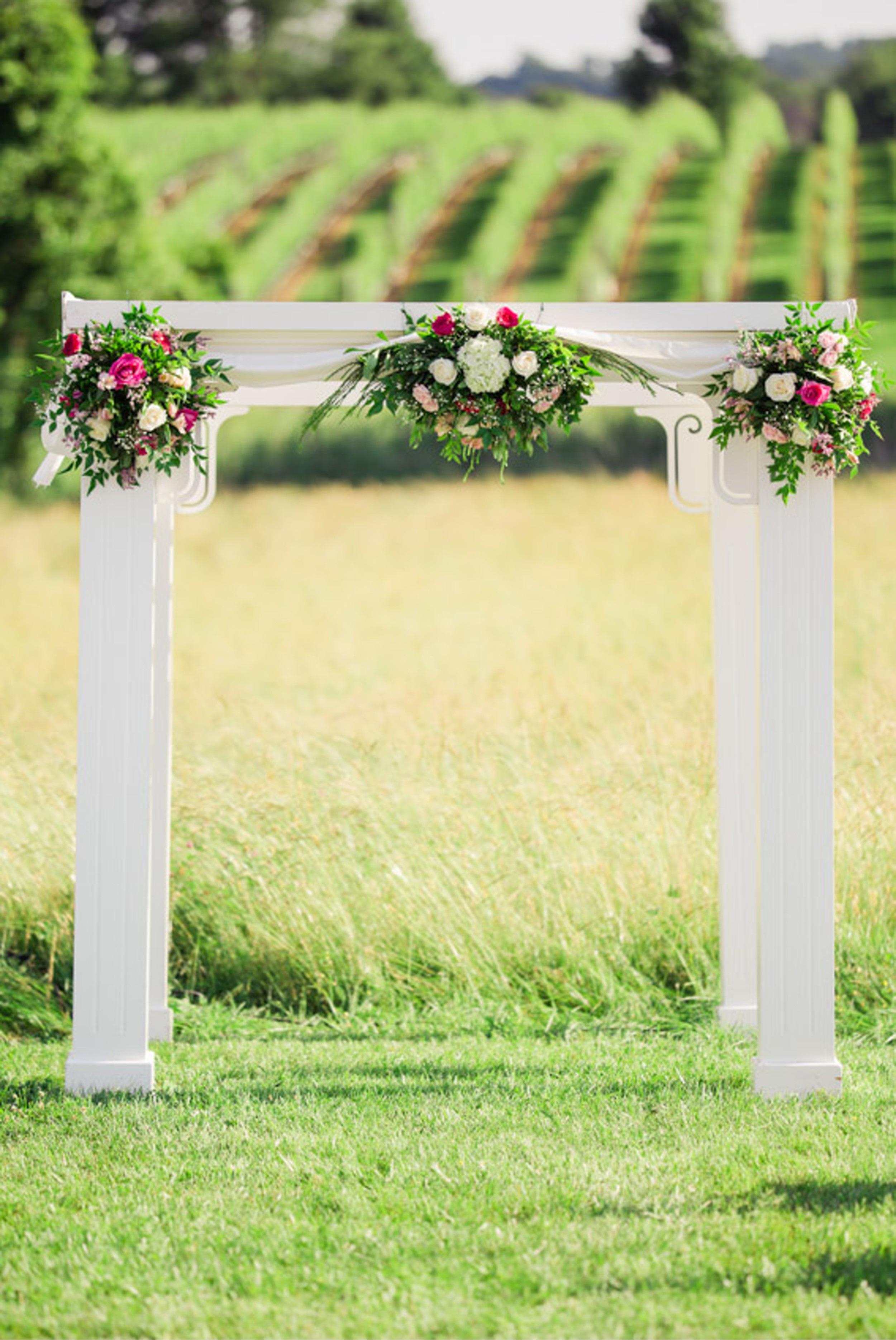 Winery Wedding Arch