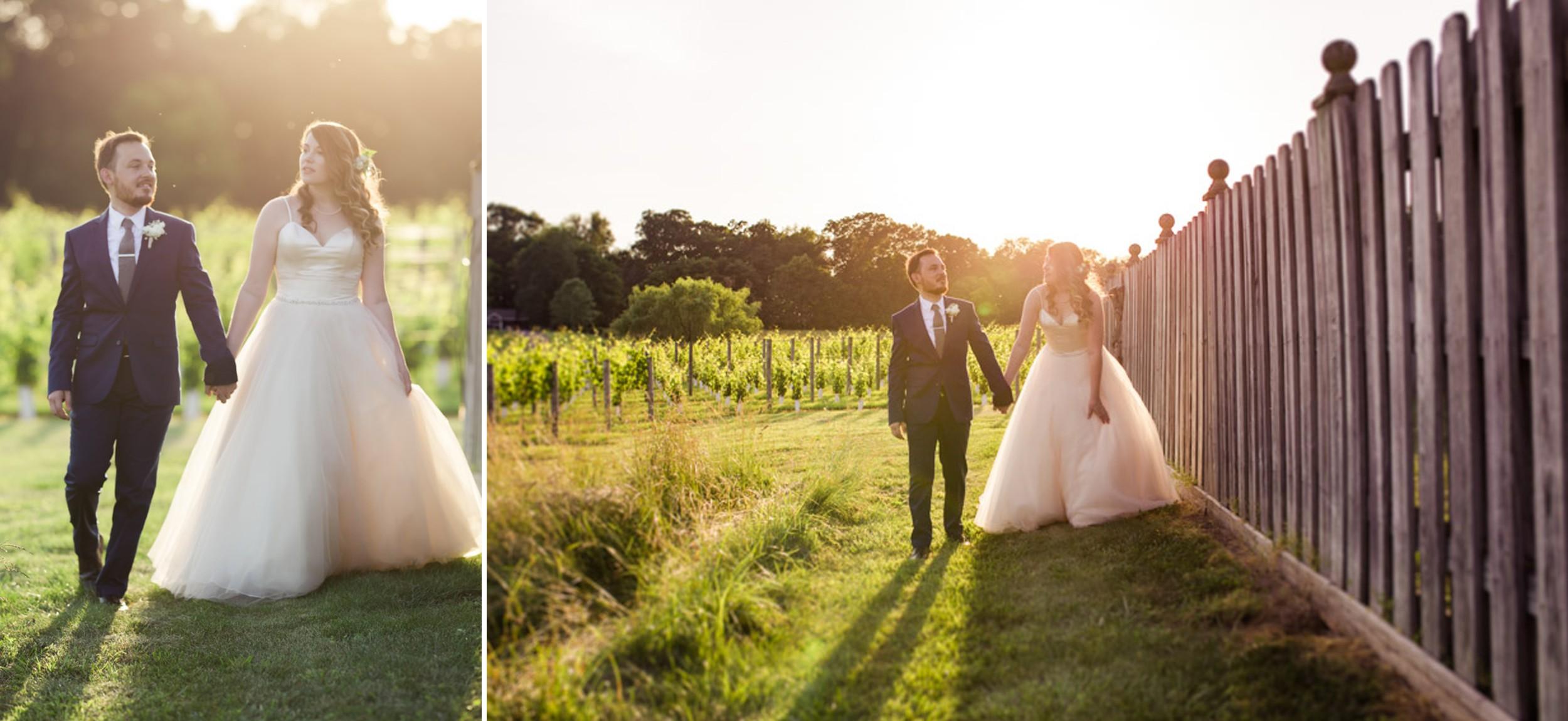 Sunset Winery Wedding