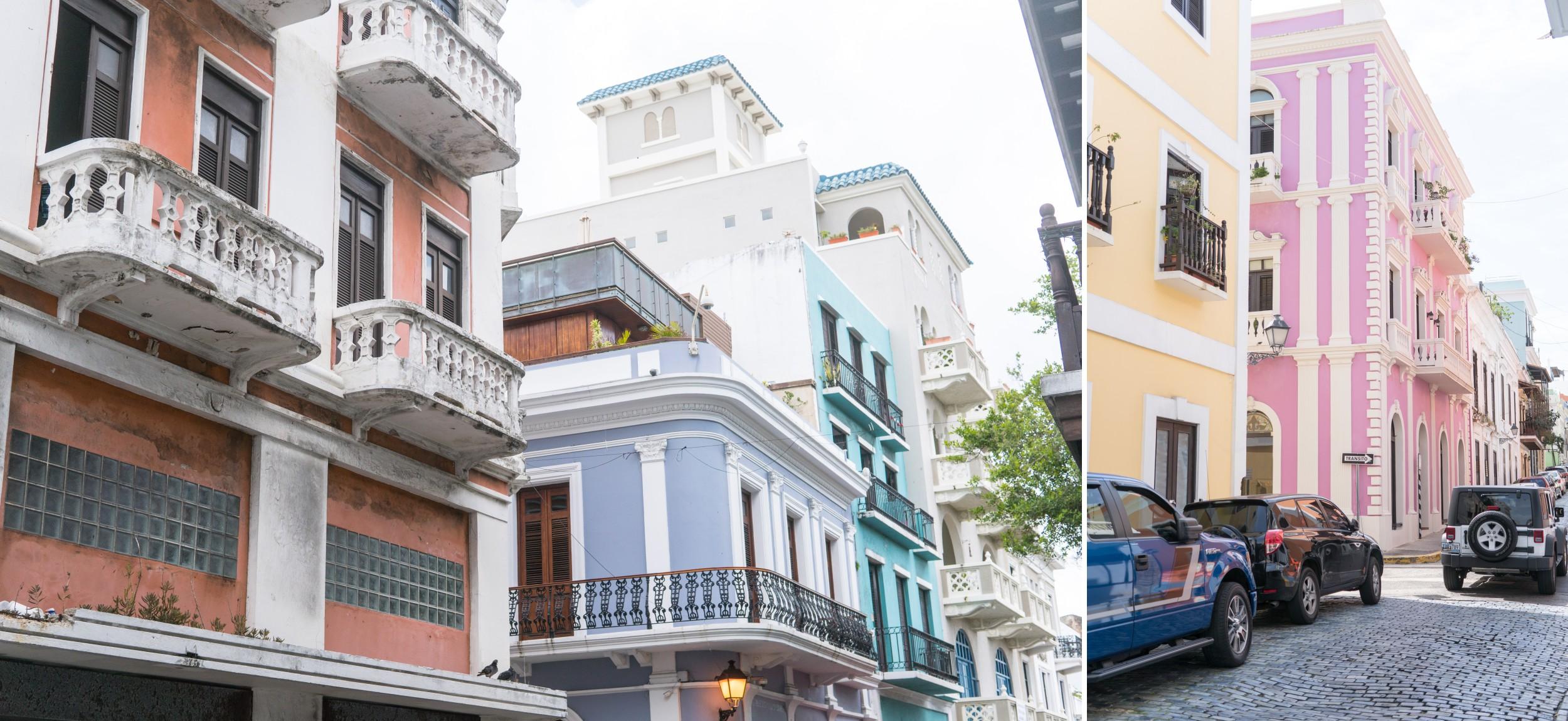 Pastel Painted Buildings Old San Juan