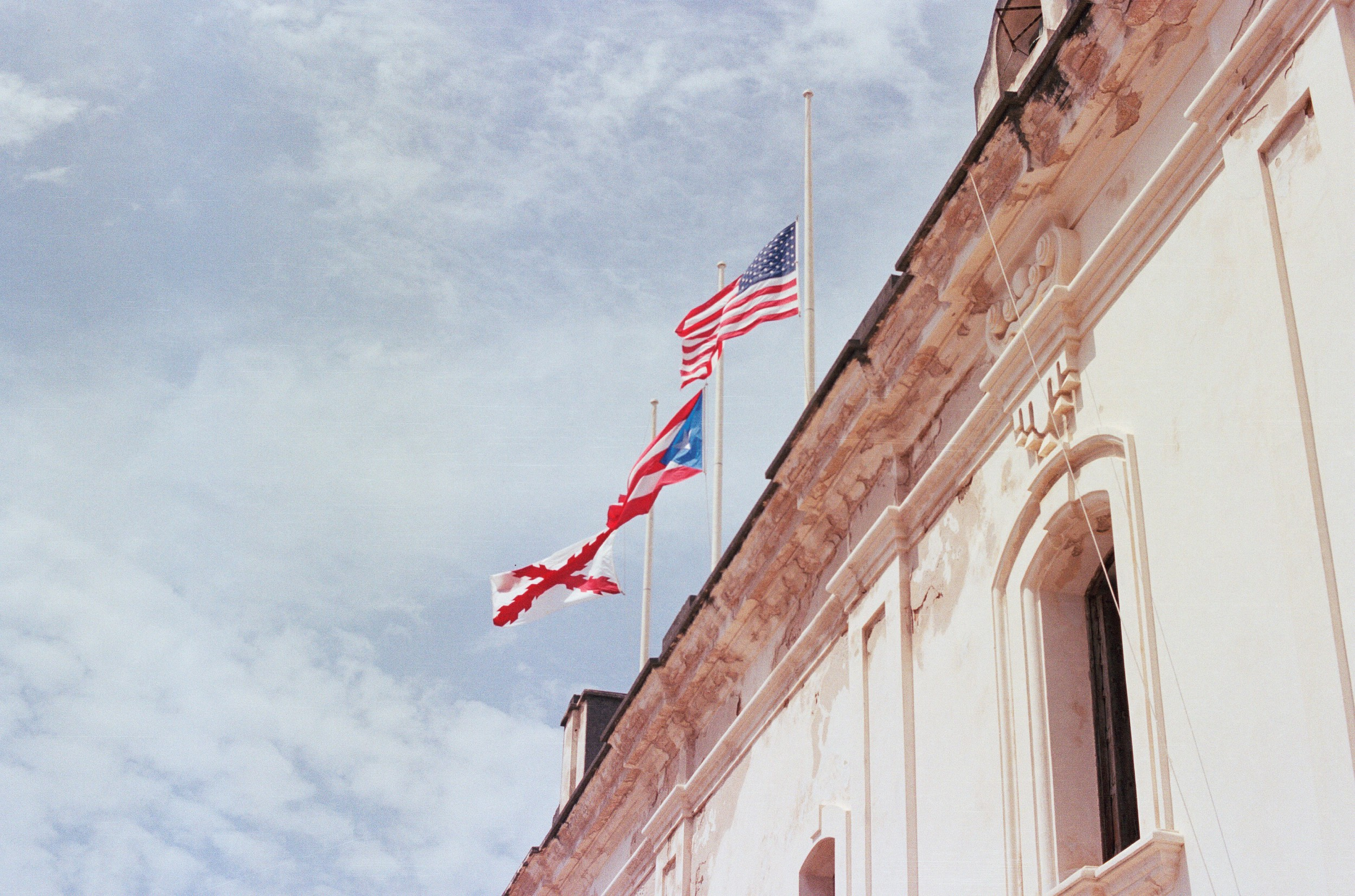 American Flag In San Juan