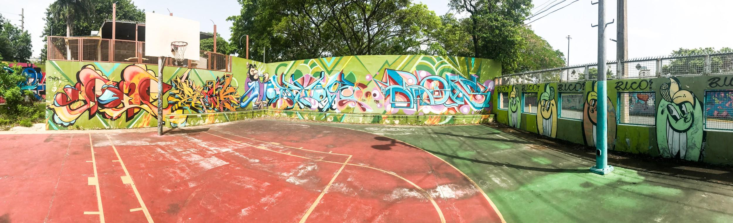 Basket Ball Court Graffiti San Juan