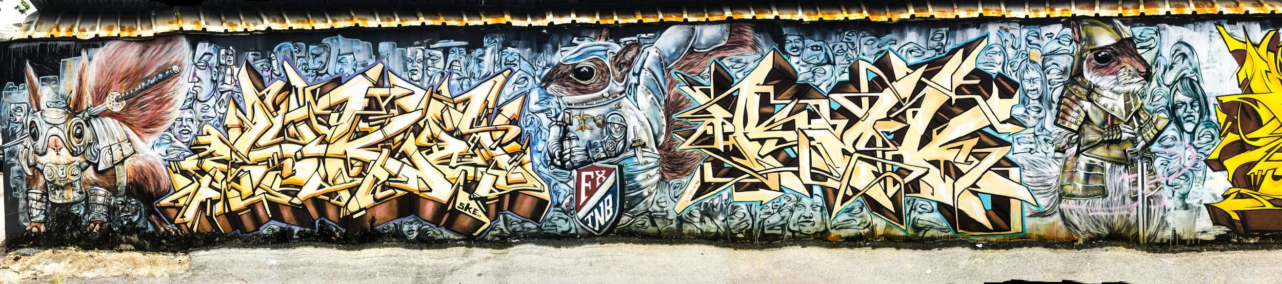 San Juan Graffiti Panoramic